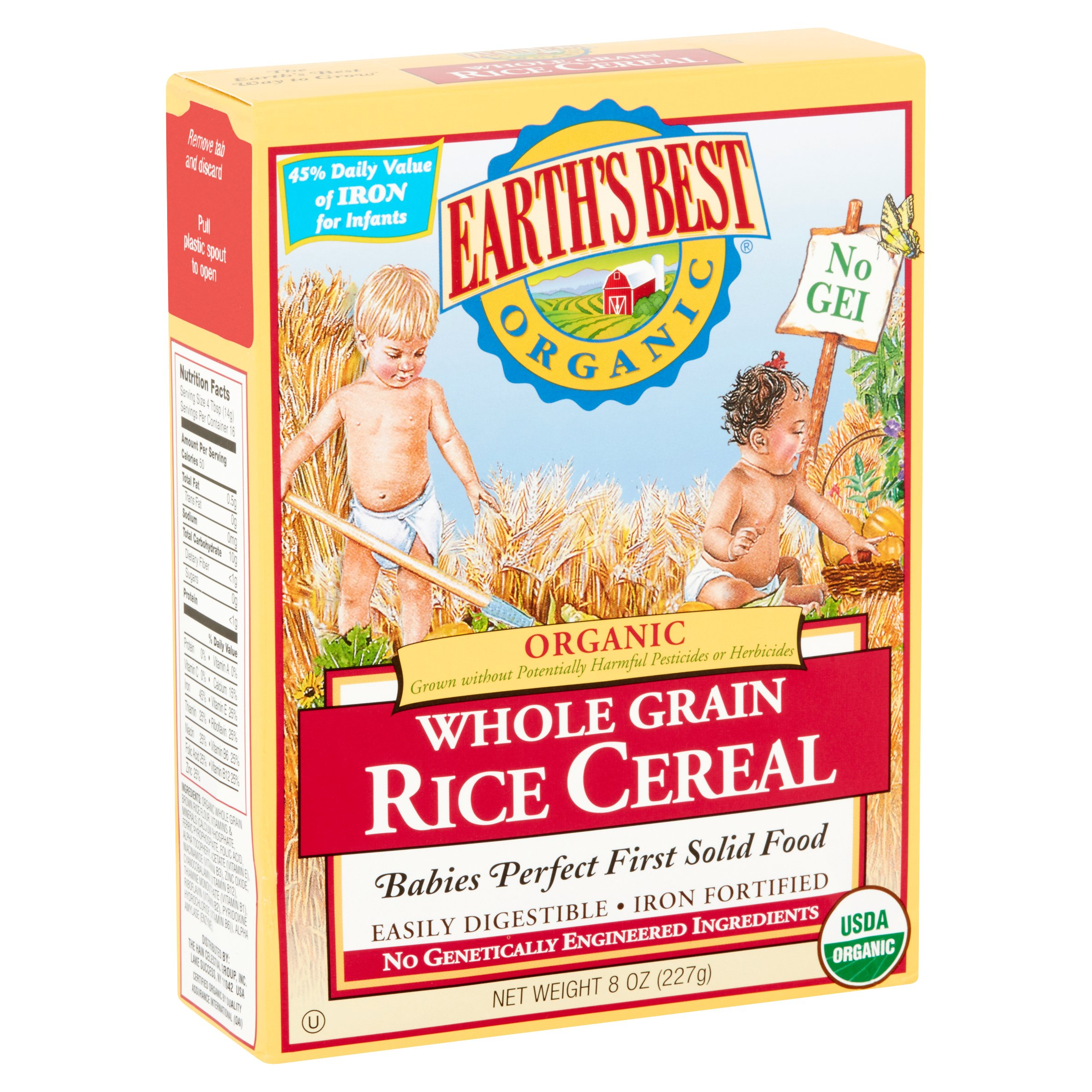 Earths best organic whole grain rice cereal 8 oz walmart ccuart Choice Image