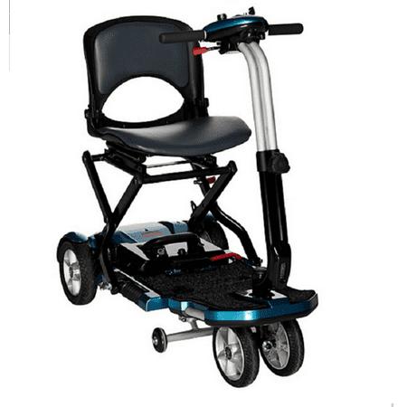 EV Rider Transport Plus Folding Mobility Scooter Blue