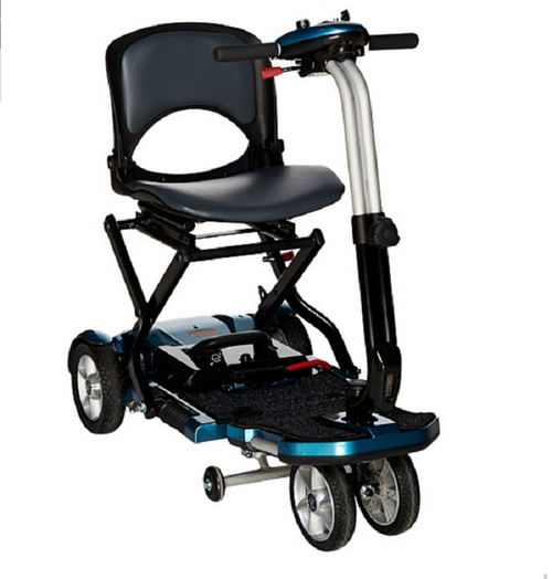 EV Rider Transport Plus Folding Mobility Scooter Blue