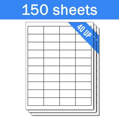 OfficeSmartLabels 2 x 1 inch Labels for Laser Inkjet ( 40 Labels Per Sheet, White, 150 Sheets