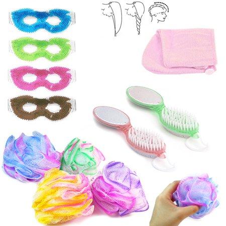 Spa Seat (4 Pc Mask Body Loofah Foot Pumice Brush Bath Body Relaxing Spa Tools Gift Set)