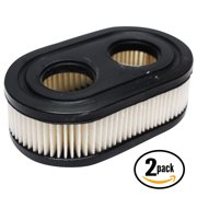 2-Pack Compatible Briggs & Stratton 09P702-0035-F1 Engine Air Filter - Compatible Briggs & Stratton 593260 Filter