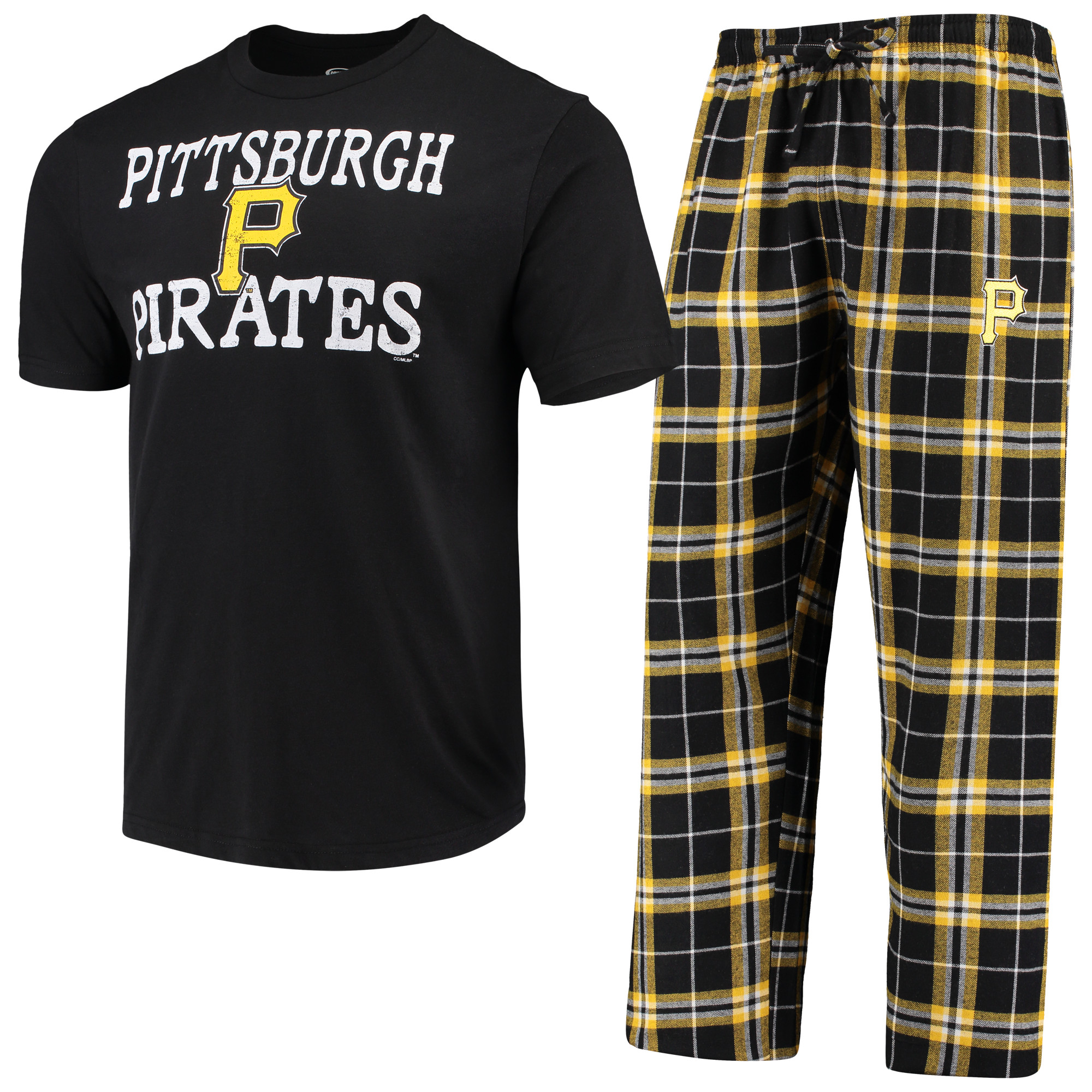 Pittsburgh Pirates Concepts Sport Duo Pants & Top Set - Black