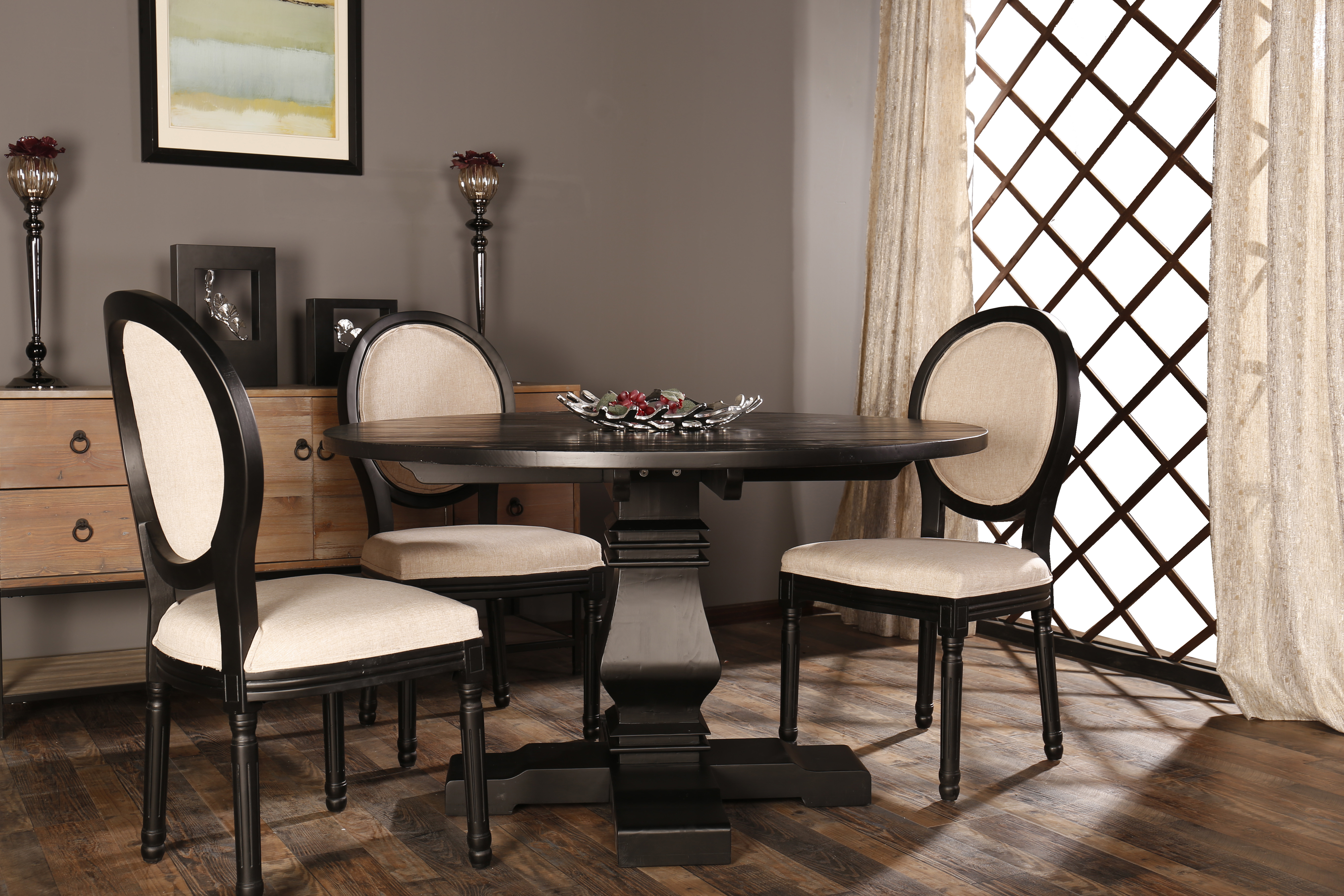c7bf572d853c Classic Rustic Style Round Dining Room Kitchen Table Walmart Com