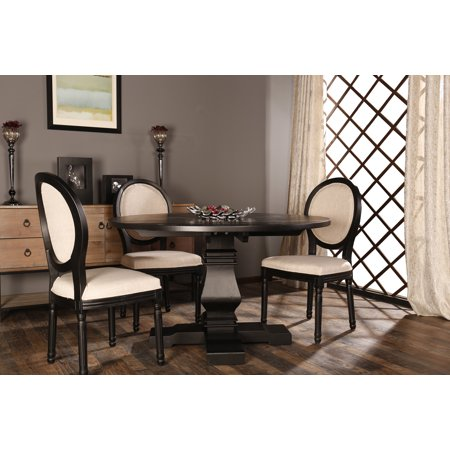 Classic Rustic Style Round Dining Room Kitchen Table ()