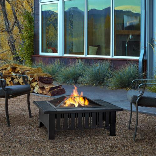 Real Flame Lafayette 33.6 in. L x 33.6 in. W x 17.9 in. H Outdoor Firepit by Overstock