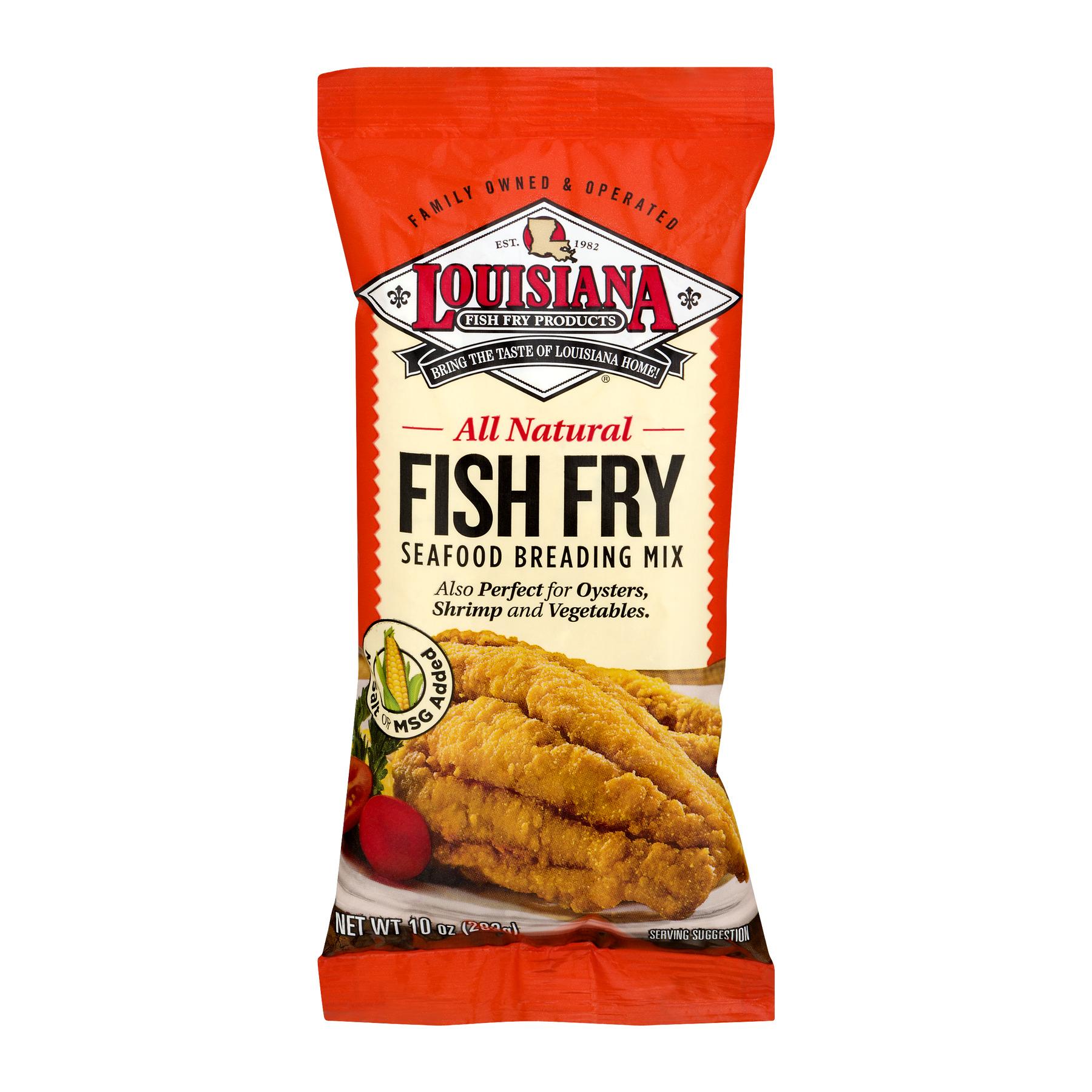 (3 Pack) Louisiana Unseasoned Fish Fry Seafood Breading Mix, 10 oz