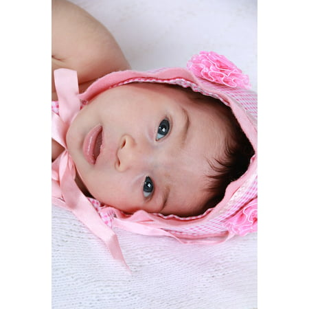Canvas Print Baby Bebe Pink Tenderness Eyes Newborn Linda Stretched Canvas 10 x 14
