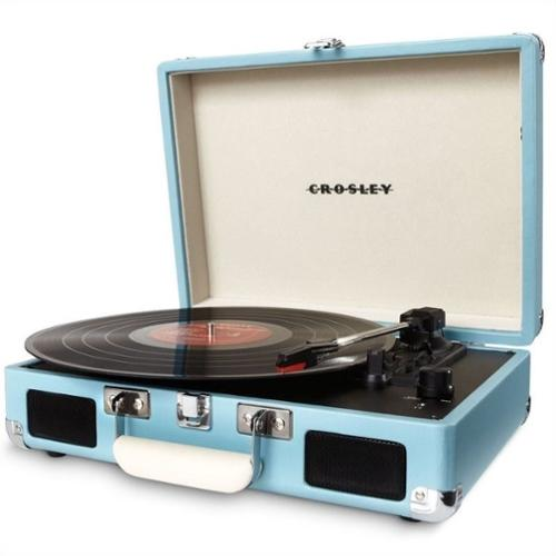 Crosley Radio Cruiser Portable Turntable in Turquoise