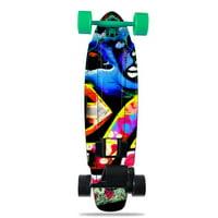 Skin Decal for Yuneec E-GO2 Electric Skateboard Loud Graffiti
