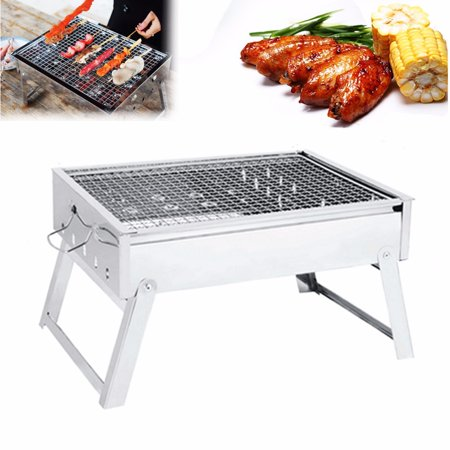Outdoor Portable Folding Stainless Steel Barbecue Grill BBQ Picnic Camping  new - image 10 of 11