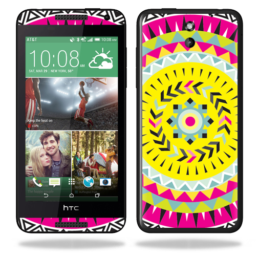 MightySkins Protective Vinyl Skin Decal for HTC Desire 610 wrap cover sticker skins Pink Aztec