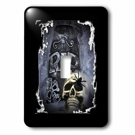 3dRose Grave Marker and Skull Halloween Skull Design, Single Toggle Switch (Halloween Skulls Designs)