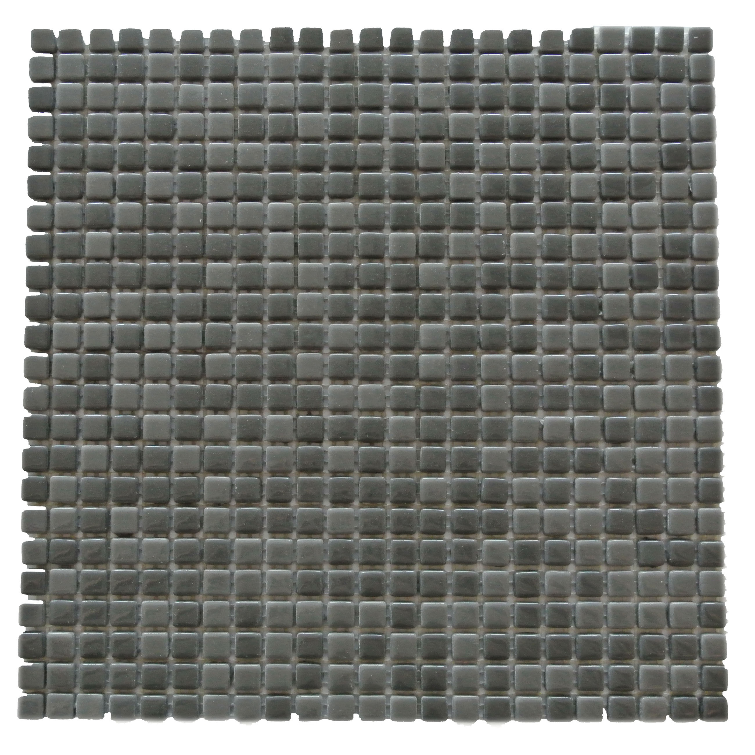 "Abolos- Full Body 0.5"" x 0.5"" Glass Mosaic Backsplash Tile in Dark Gray (5.45sqft - 5pc Box)"