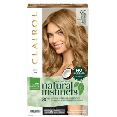 Clairol Natural Instincts Hair Color, [8G] Medium Golden Blonde 1 (Natural Hair Color Products For African Americans)
