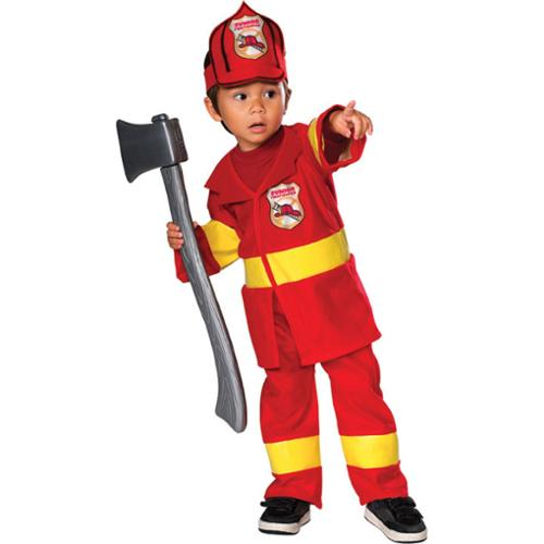 Childs Red And Yellow Jr. Firefighter Costume