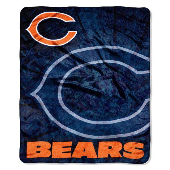 Chicago Bears 50x60 NFL Roll Out Royal Plush Raschel Throw Blanket