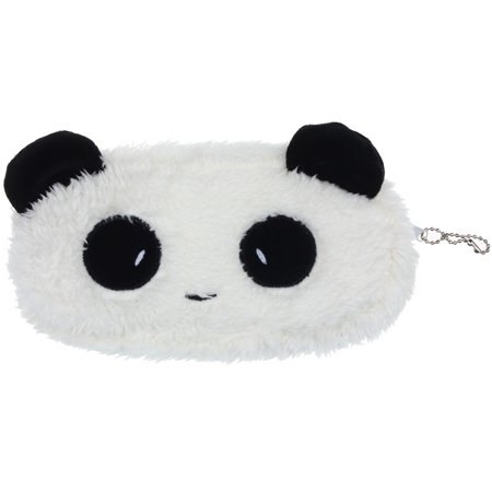 Cute Plush Panda Pen Pencil Case Cosmetic Makeup Bag Coin Purse Wallet