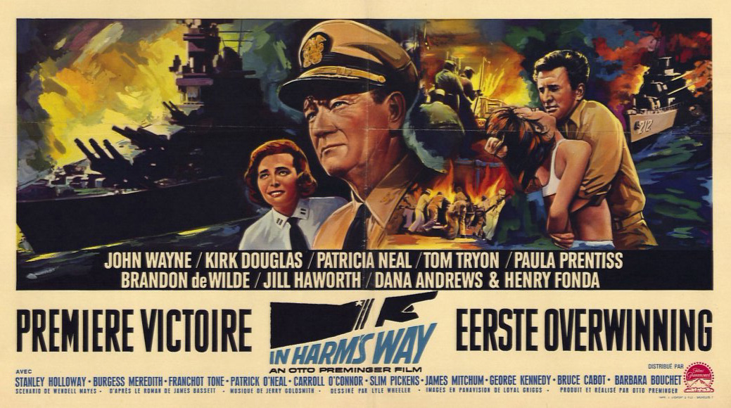 Image result for in harms way 1965 poster movie