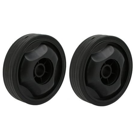 Compressor Part Replacement - 115mmx16.5mm Plastic Air Compressor Replacement Parts Wheel Casters Black 2pcs
