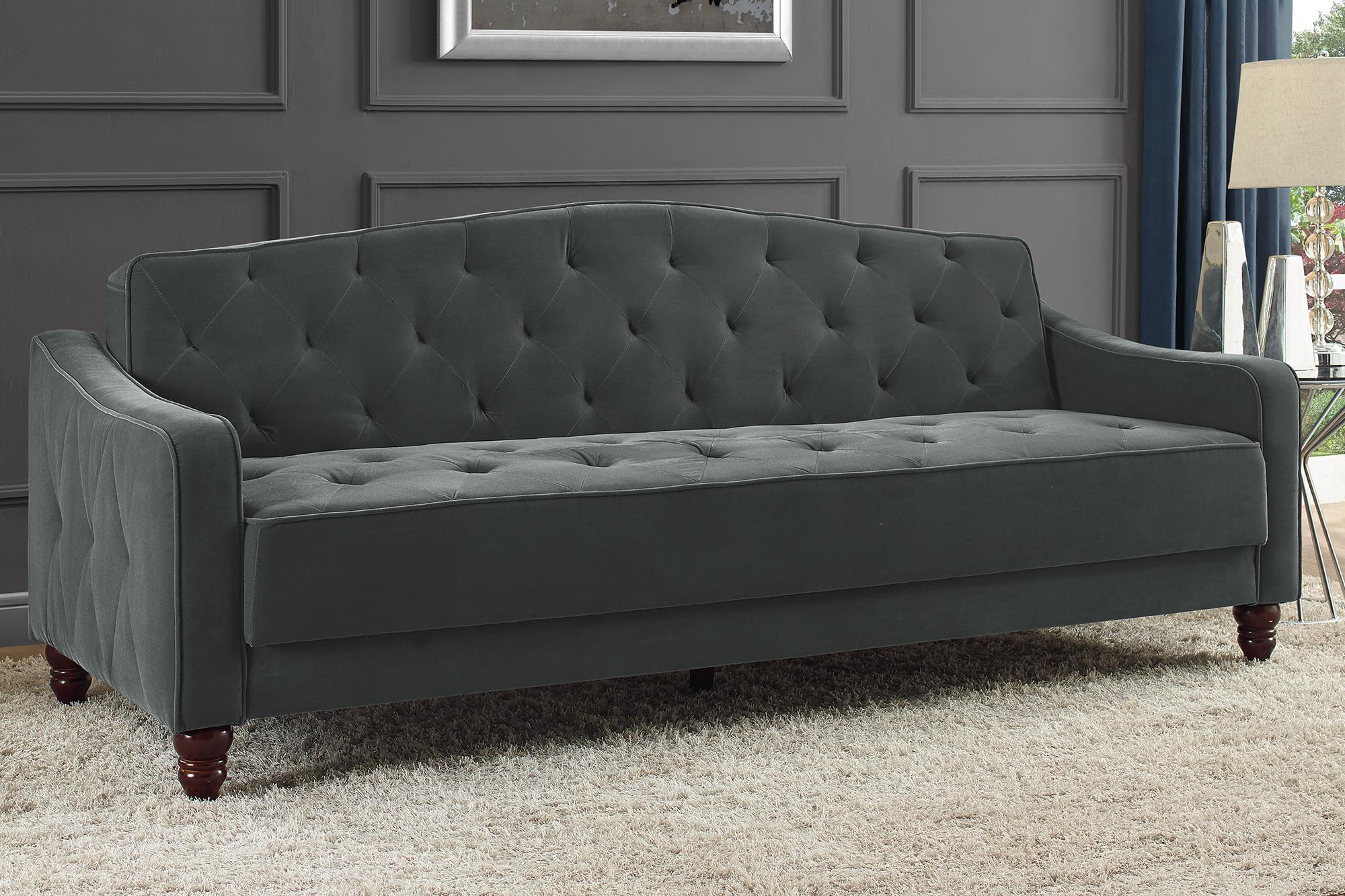 Novogratz Vintage Tufted Sofa Sleeper II, Multiple Colors ...