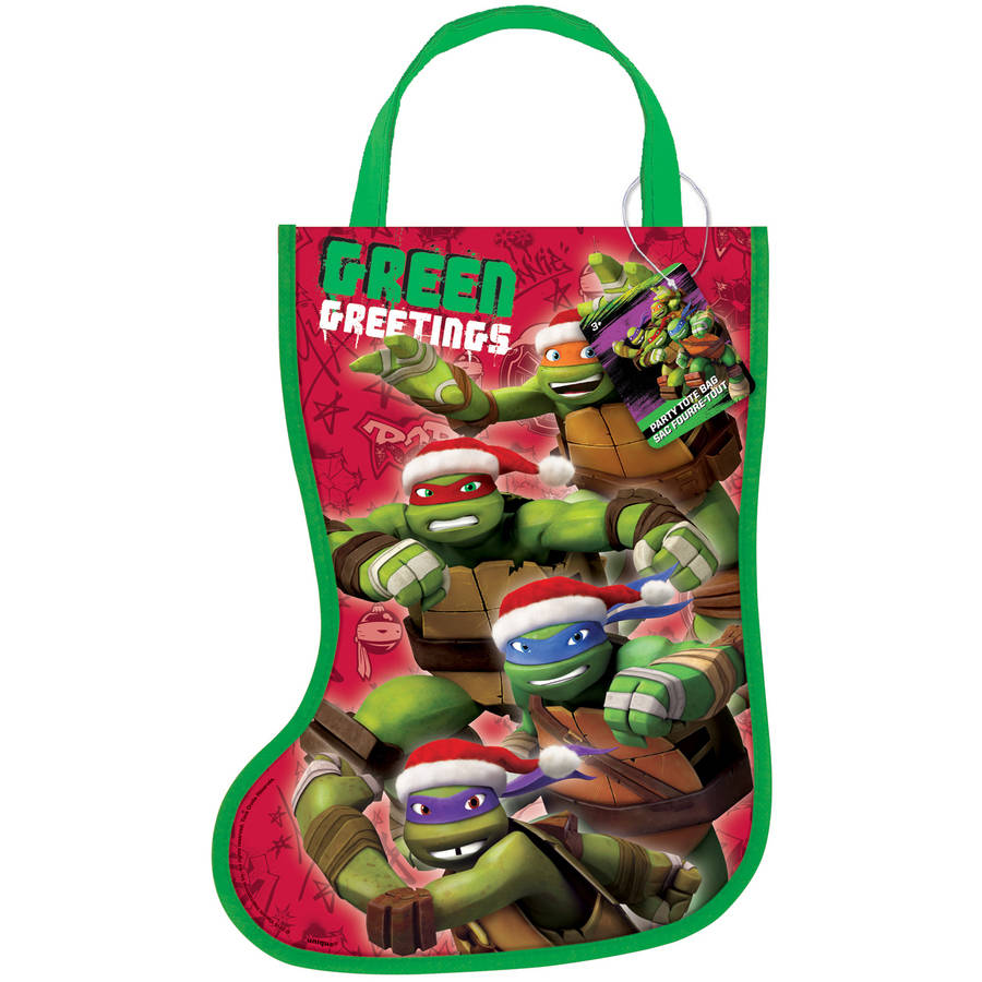 Teenage Mutant Ninja Turtles Christmas Stocking Goodie Bag, 13 x 9.5 in, 1ct