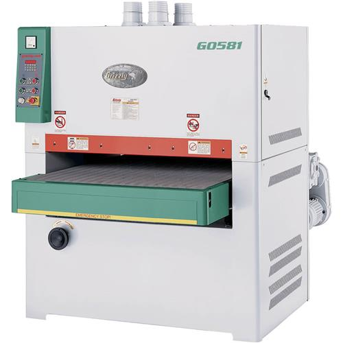 """Grizzly G0581 43"""" 25 HP 3-Phase Double Drum Wide-Belt Sander"""