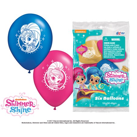 """Party Supplies - Pioneer Latex Balloons 6 ct 12"""" Shimmer and Shine 47962 - image 1 de 1"""