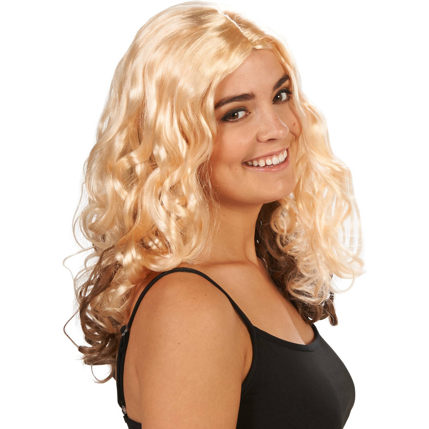 Blondey Curly Adult Wig Halloween Accessory