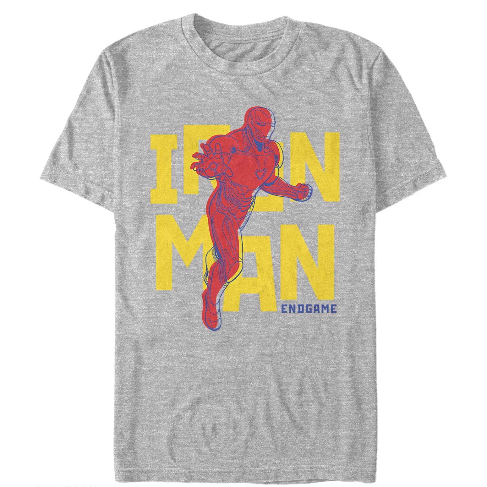 Marvel Men's Avengers: Endgame Iron Man Pop Art T-Shirt