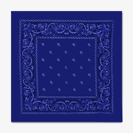 Printed Cotton Bandana - ONE SIZE FITS MOST - Royal Blue