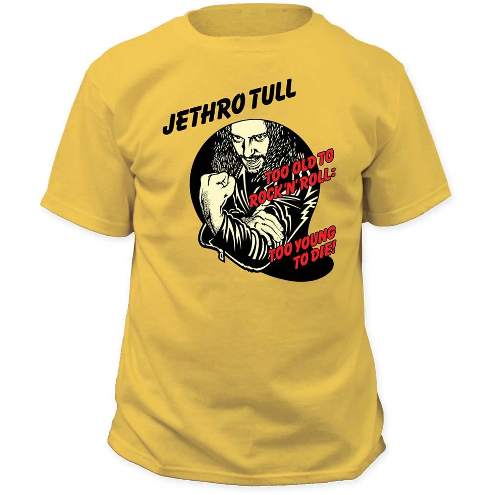 Jethro Tull Too Young To Die T-Shirt - Yellow - Medium