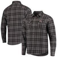 Texas A&M Aggies Antigua Stance Flannel Button-Up Long Sleeve Shirt - Charcoal