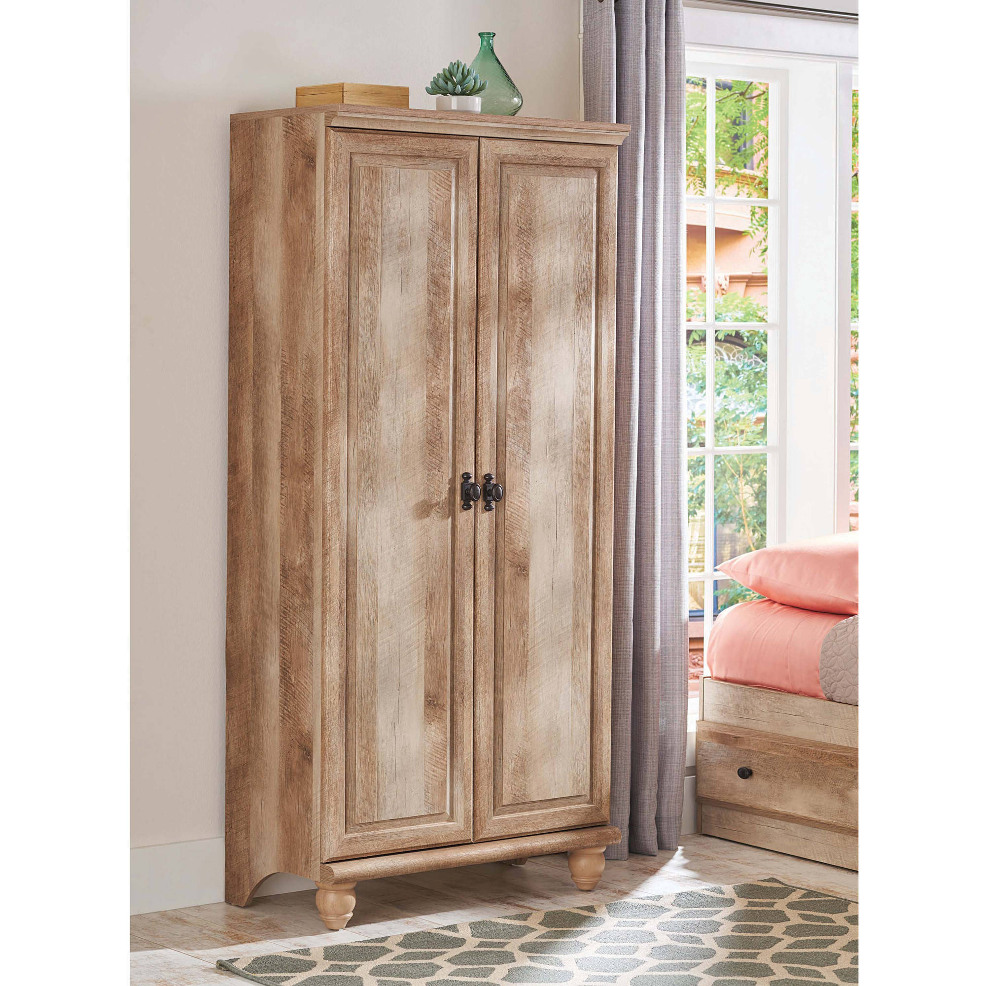 Better Homes and Gardens Crossmill Storage Cabinet, Weathered Finish