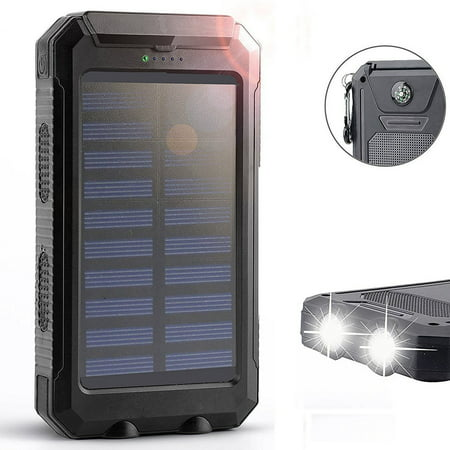 Waterproof 2000000mAh Dual USB Portable Solar Charger Solar Power Bank...