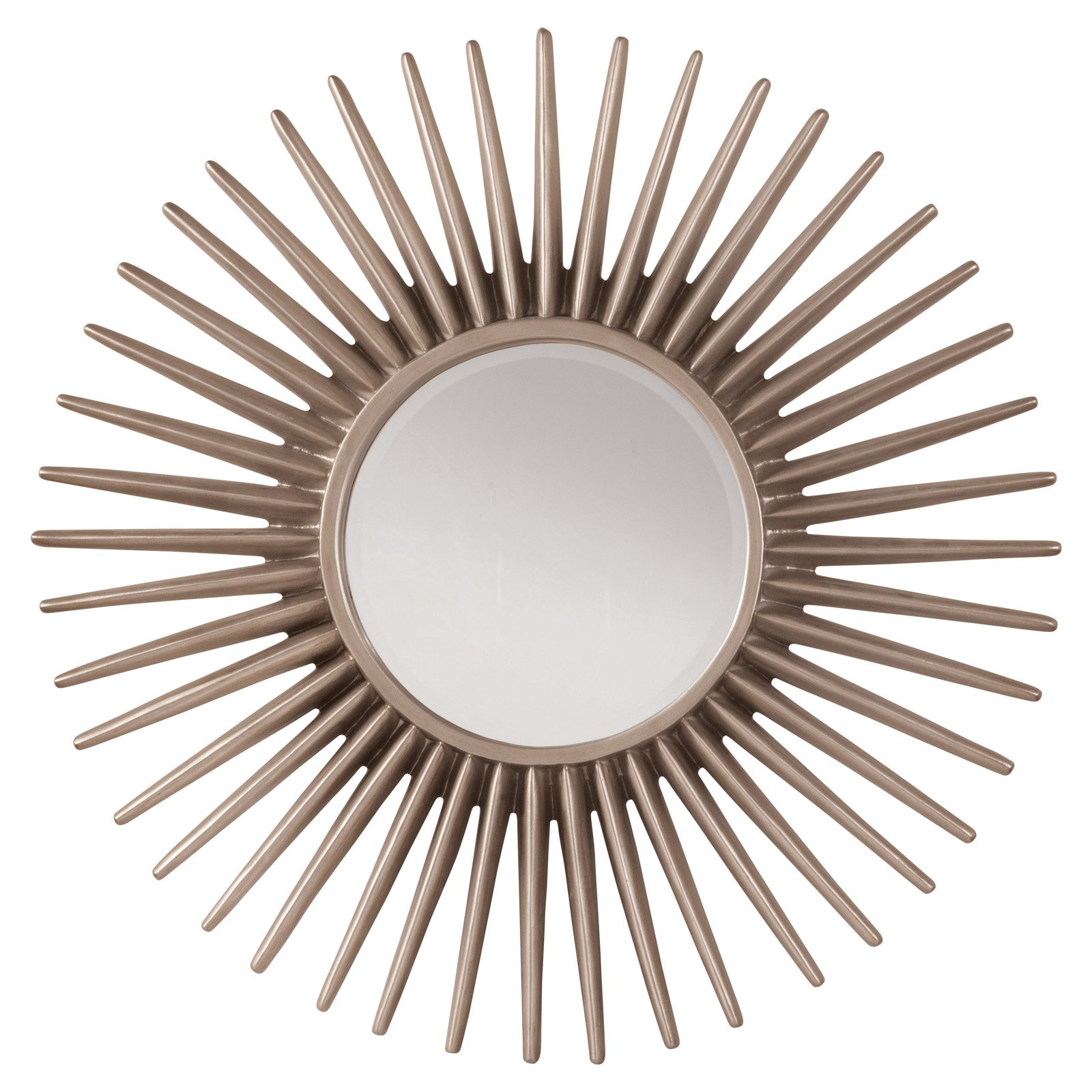 Ella Beveled Wall Mirror with Sunbeam Frame