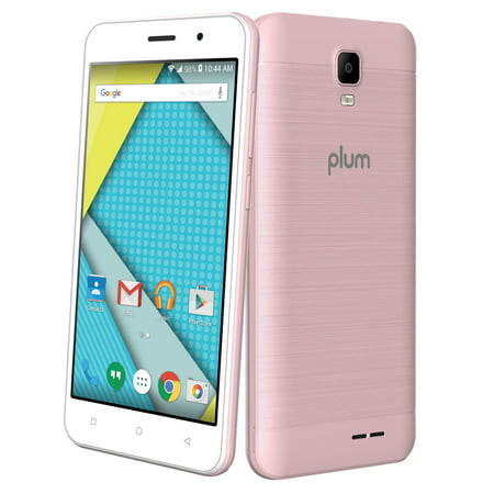 Plum Compass - Unlocked 4G GSM Smart Cell Phone Android 8.0 Quad core 8MP Camera ATT Tmobile Metro - Rose