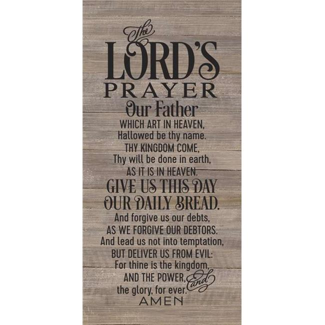 Artistic Reflections RE1147dn 14 x 24.5 in. Lords Prayer Pallet Wood Art Sign