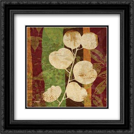 Spice Leaf 2 2x Matted 20x20 Black Ornate Framed Art Print by Stimson, Diane