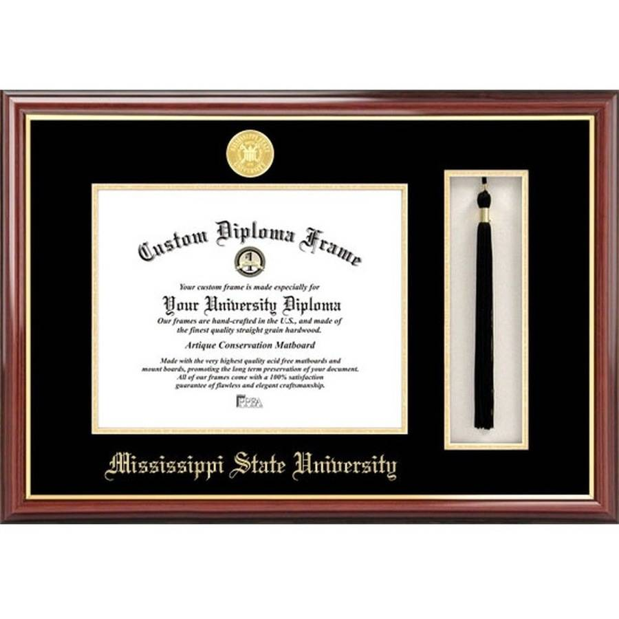 "Mississippi State 8.5"" x 11"" Tassel Box and Diploma Frame"