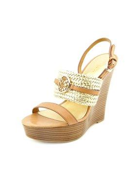 2171cc674 Product Image Coach Beatriz Women Open Toe Leather Gold Wedge Heel