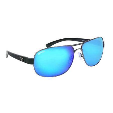 Calcutta Fishing RG1BM Regulator Sunglasses Black Wire Frame Blue Mirror (Mens Calcutta Sunglasses)