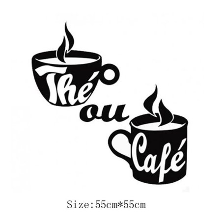 Coffee Cup Wall Stickers Poster Paster Decals Wallpaper Home Drawing Room Decoration Kitchen Tile - image 4 of 6