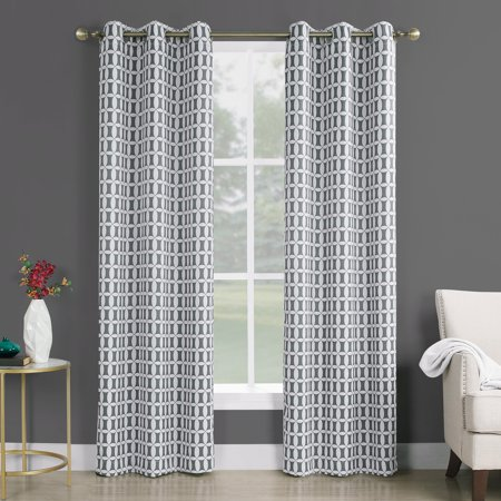 - Sun Zero Murphy Geometric Blackout Grommet Curtain Panel