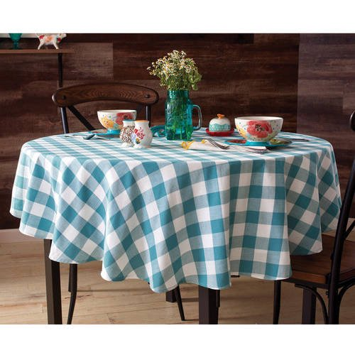 The Pioneer Woman Charming Check Tablecloth Walmart Com