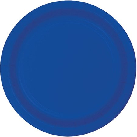 Cobalt Luncheon Plate - Club Pack of 96 Cobalt Blue Disposable Luncheon Paper Party Plates 7