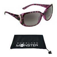 fcdf7764e958 Product Image Women's Bifocal Sun Reader Reading Sunglasses +1.50. Sexy  Pink Cheetah Frame with Nearly Invisible