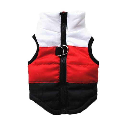 Small Pet Cat Dog Clothes Winter Warm Padded Coat Jacket Vest Harness Apparel