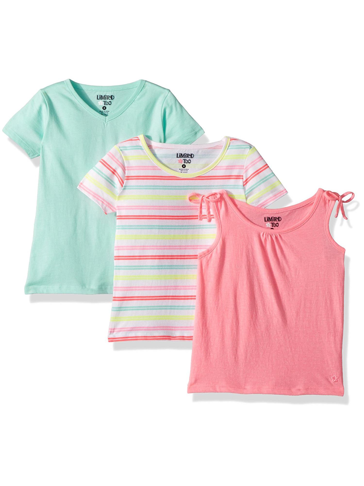 Toddler Girl Tank Top & T-shirts, 3-pack