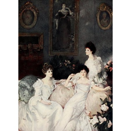 Sargent 1908 Lady Elcho Mrs Adeane   Lady Tennant Poster Print By  J Singer Sargent